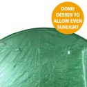 Greenhouse EcoFresh Walk in Greenhouses 3m x 2m x 2m dome