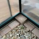 EcoPro Greenhouse 32x8 base corner