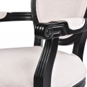 Louis Dining Armchair Set of 2 French Provincial Upholstered Carver Chair White Black or Washed Oak