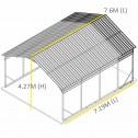Carport 6.23 x 7.6 x 4.27 Dimensions