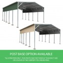Carport 3.6 x 7.6m x 3.51m colors