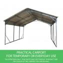 Carport 3.6 x 7.6m x 3.51m practical