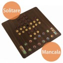 10 in 1 Wooden Board Game Solitare Mancala
