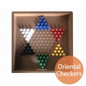 10 in 1 Wooden Board Game Oriental Checkers