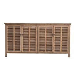 Hampton Louvre 4 Door Buffet Cabinet in Natural Ash