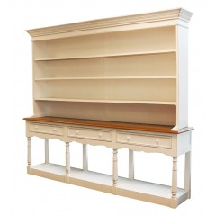 French Provincial Furniture White Cupboard Cabinet / Bookcase