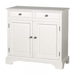 French Provincial Classic Buffet Cabinet in White - 2 Sections