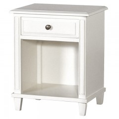 French Style Classic Bedside Table with drawer White