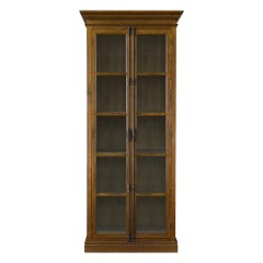 French Provincial Casement Double Door Glass Display Cabinet
