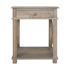 Hamptons Halifax One Drawer Bedside Lamp Table Nightstand - Natural Oak