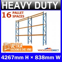 ULTRA 4267mm H Dexion Compatible Pallet Racking 16 Space Package