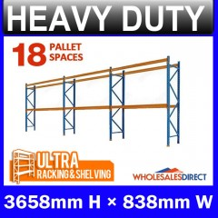 ULTRA 3658mm Pallet Racking 18 Space Package - Dexion Compatible