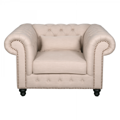 Cameron Chesterfield Upholstered Armchair Single Sofa Lounge