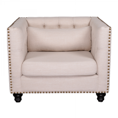 Maddy Chesterfield Upholstered Armchair Single Sofa Lounge