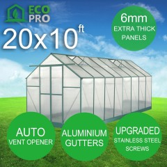 EcoPro 6mm Greenhouse 20 x 10ft 2.70m Height
