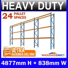 ULTRA 4877mm Pallet Racking 24 Space Package - Dexion Compatible
