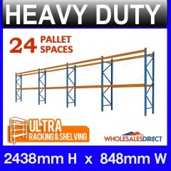ULTRA Pallet Racking 2438mm 24 Space Package - Dexion Compatible