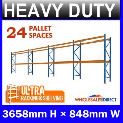 ULTRA Pallet Racking 3658mm 24 Space Package - Dexion Compatible