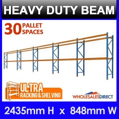 Pallet Racking 5 Bay System 2438mm High 30 Pallet Spaces