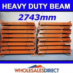 Pallet Racking Dexion Compatible Heavy Duty Beam 2743mm - 2851kg udl