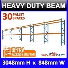 Pallet Racking 3 Bay System 3048mm High 24 Pallet Spaces