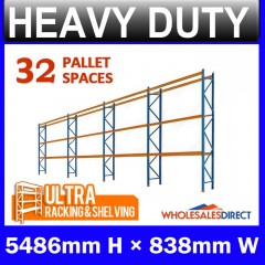 ULTRA Pallet Racking 5486mm 32 Space Package - Dexion Compatible