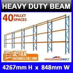 4267mm H x 838mm W Pallet Racking  5Bays Warehouse Dexion Compatible