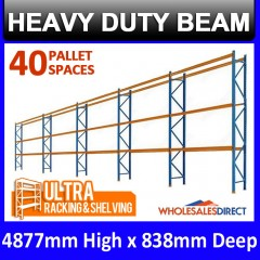 4877mm H x 848mm W Pallet Racking 5Bays  Warehouse Dexion Compatible Heavy Duty