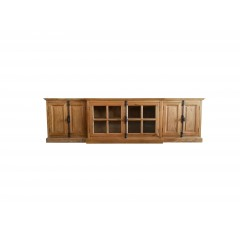 French Provincial Casement 2 casement Glass Doors TV Entertainment Unit /Stand