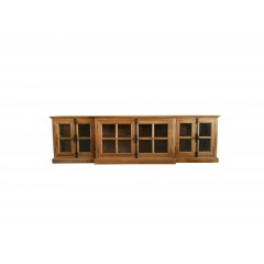 French Provincial Casement 6 casement Glass Doors TV Entertainment Unit /Stand
