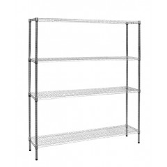 Modular Chrome Wire Storage Shelf 1500 X 350 X 1800 Steel Shelving