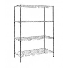 Modular Chrome Wire Storage Shelf 1200 X 600 X 1800 Steel Shelving