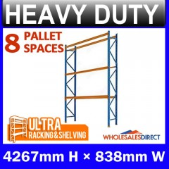 ULTRA 4267mm H Dexion Compatible Pallet Racking 8 Space Package