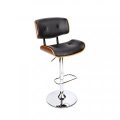 Sleek Wooden Barstool