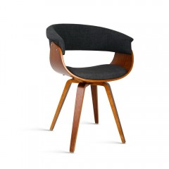 Fabric Dinig Chair - Charcoal