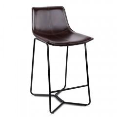 Set Of 2 Bonded Leather Barstool - Black