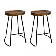 Set Of 2 Vintage Tractor Bar Stools 65cm