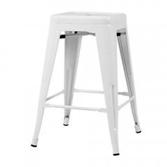 Artiss 4x Replica Tolix Bar Stools Metal Bar Stool Kitchen Cafe Chair 66cm White