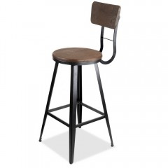 Industrial Bar Stools With Backrest ?76cm
