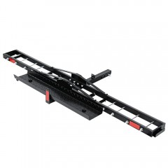 "Ultra Tools Motorcycle Motorbike Carrier Hauler 2"" Hitch Mount Rack Ramp Anti Tilt Tow Bar"