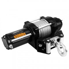 4500lbs Electric Winch Atv 4wd Steel Wire W/ Remote