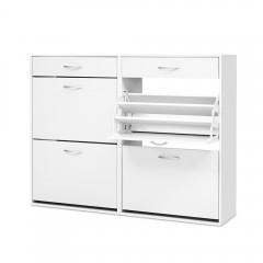 Artiss 36 Pairs Shoe Cabinet Rack Organisers Storage Shelf Drawer Cupboard White