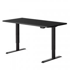 Electric Motorised Height Adjustable Standing Desk - Black Frame With 140cm Black Top