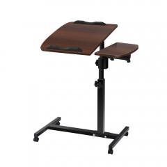 Mobile Adjustable Laptop Desk - Walnut