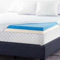 Single Size Dual Layer Cool Gel Memory Foam Topper