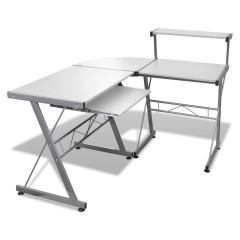 Three-piece Computer Desk White