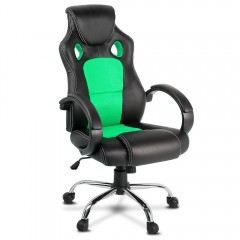 Racing Style Pu Leather Office Chair Green