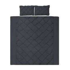 King 3-piece Quilt Set Black