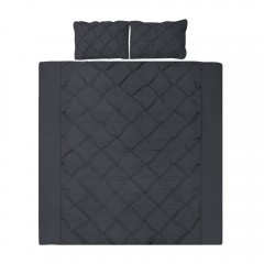 Super King 3-piece Quilt Set Black