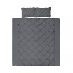 King 3-piece Quilt Set Charcoal